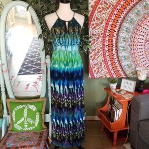 Carole Little Colorful Maxi Dress Size 6
